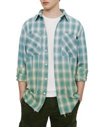 ELEVENPARIS Slim Fit Plaid Button Up Shirt