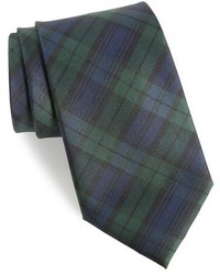 Shop family plaid silk tie medium 1150352