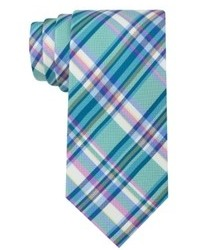 Teal Plaid Tie