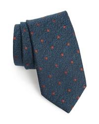 Canali Dot Silk Wool Tie