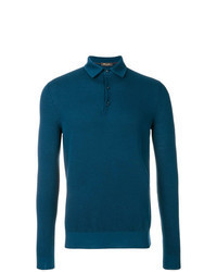 Teal Polo Neck Sweater