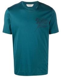Z Zegna Logo Print Short Sleeve T Shirt