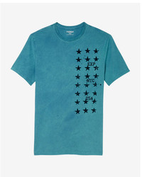 Star print crew neck graphic tee medium 5026433