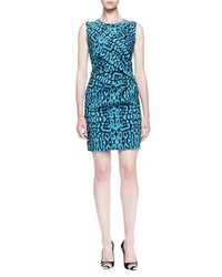 Lanvin Panther Print Side Draped Dress