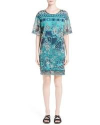 Fuzzi Batik Print Shift Dress