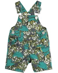 Kenzo Tiger Printed Stretch Cotton Overalls