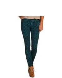 Rich skinny python print denim in teal casual pants medium 85524