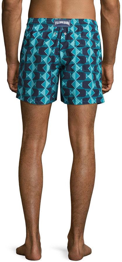 2c983dab7f Vilebrequin Moorea Graphic Fish Swim Trunks, $250 | Neiman Marcus |  Lookastic.com