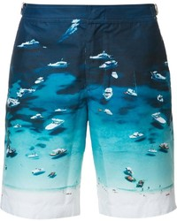 Orlebar Brown Boat Print Swim Shorts