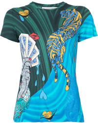 Mary Katrantzou Card Print T Shirt