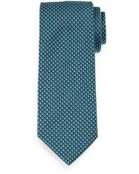 Teal Print Tie