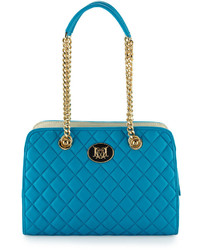 Love Moschino Nappa Quilted Faux Leather Shoulder Bag Light Blue