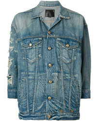 R 13 R13 Distressed Denim Jacket