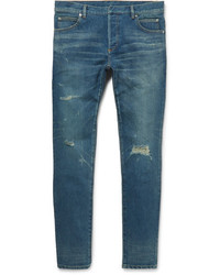 Balmain Skinny Fit Distressed Denim Jeans