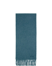 Paul Smith Blue Cashmere Scarf