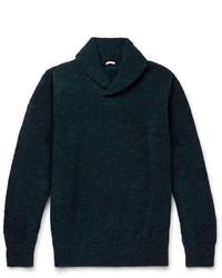 Teal Shawl-Neck Sweater