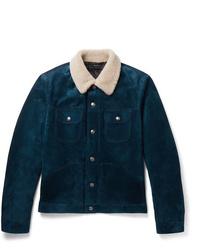 Teal Shearling Jacket