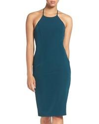 Cross back halter sheath dress medium 827530