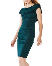 Kylia ruched jersey sheath dress medium 1249355
