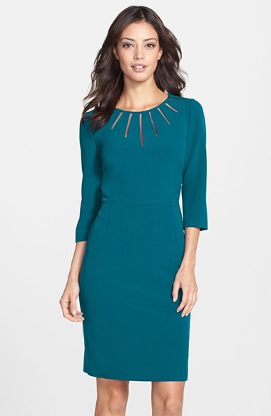 Teal Sheath Dress