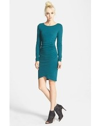 Ruched long sleeve dress medium 110163