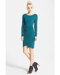 Ruched long sleeve dress medium 110163