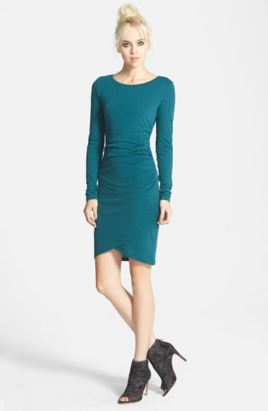 leith ruched long sleeve dress | where to buy & how to wear