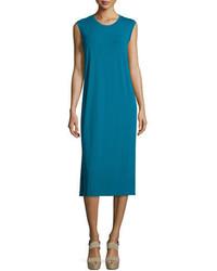 Eileen Fisher Sleeveless Round Neck Jersey Shift Dress