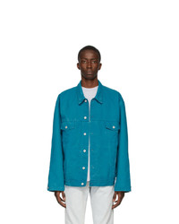 Off-White Blue Denim Arrows Jacket