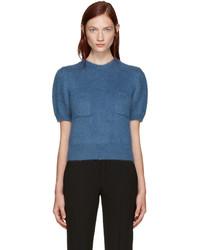 Erdem Blue Wool Jessa Sweater