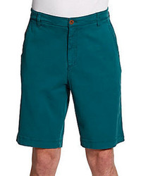 Robert graham trekin stretch cotton shorts medium 63532