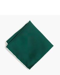 Teal Silk Pocket Square