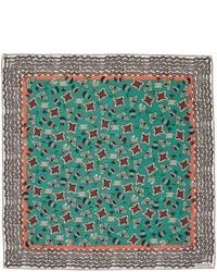 Valentino Pop Flower Silk Scarf