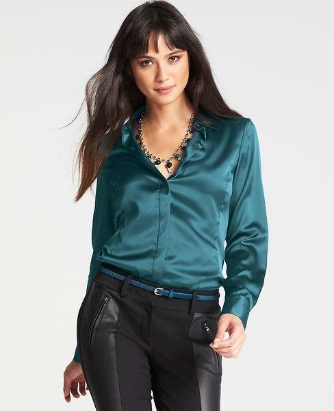 1cfdfd51b9820f ... Ann Taylor Tall Silk Legacy Blouse
