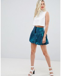 ASOS DESIGN Asos Mini Skirt In Two Tone Fabric