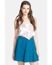 Lily White Skater Skirt Teal Medium