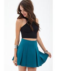 Forever 21 Scuba Knit Skater Skirt