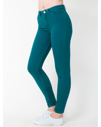 American Apparel Stretch Bull Denim Side Zip Pant