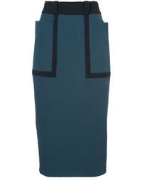 Roksanda Contrast Belt Midi Skirt
