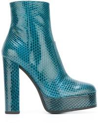 Roberto Cavalli Snakeskin Effect Platform Boots