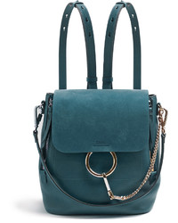 Chloé Chlo Faye Mini Suede And Leather Backpack