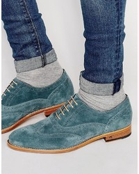 Teal Suede Brogues