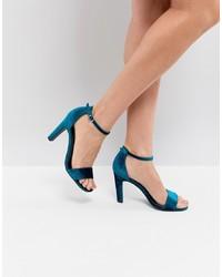 New Look Velvet 2 Part High Heel Sandal