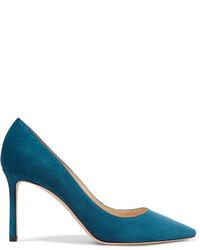 Romy suede pumps blue medium 953874