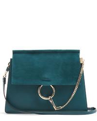 Chloé Chlo Faye Medium Suede And Leather Shoulder Bag