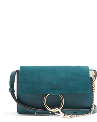 Chloé Chlo Faye Small Suede And Leather Shoulder Bag