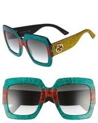 Gucci 54mm Square Sunglasses Black