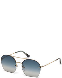 Tom Ford Antonia Cutoff Round Sunglasses