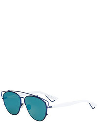 Christian Dior Dior Technologic Mirrored Metal Sunglasses Matte Bluewhite