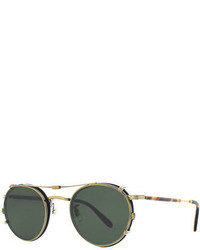 Garrett Leight Wilson Round Optical Frames W Sunglasses Clip